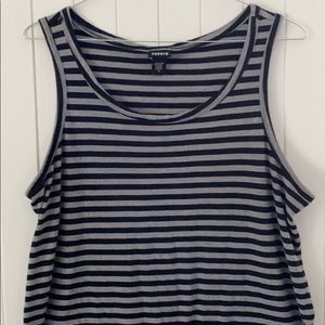 Torrid Striped Black and Gray Tank. Size: 1